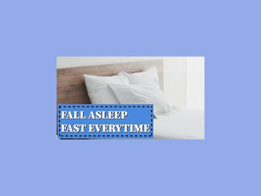 How to Fall Asleep Fast (3 Step Approval Works for Me Everytime)