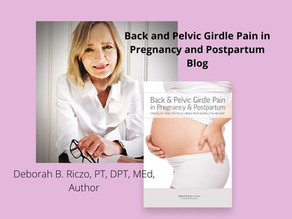 Back and Pelvic Girdle Pain in Pregnancy and Postpartum Blog
