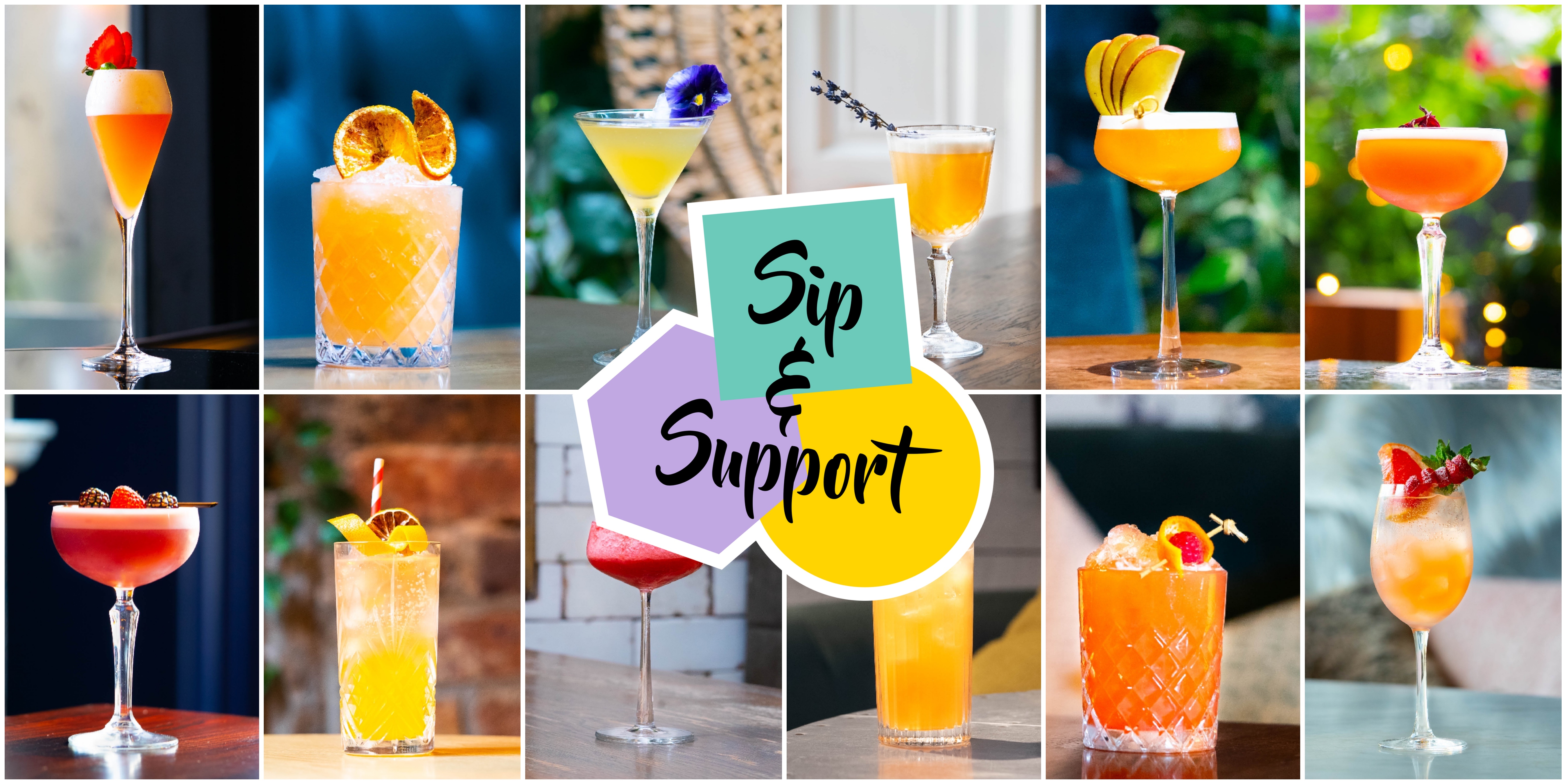 Sip & Support Collage