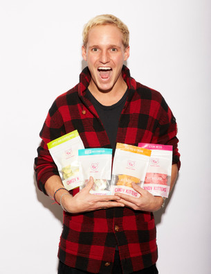 Jamie Laing's designer confectionary brand 'Candy Kittens' joins Foodies Festival Christmas.