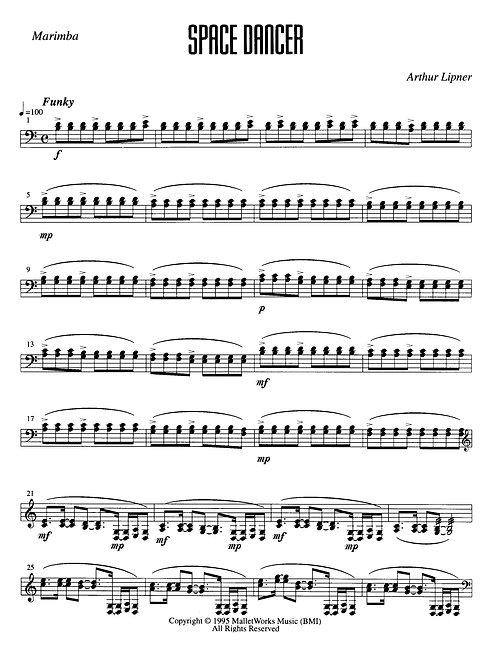 Space Dancer, Vibes/Marimba duo, digital copy (Lipner)