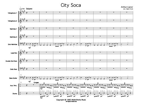 City Soca, Perc Ens digital copy (Lipner)