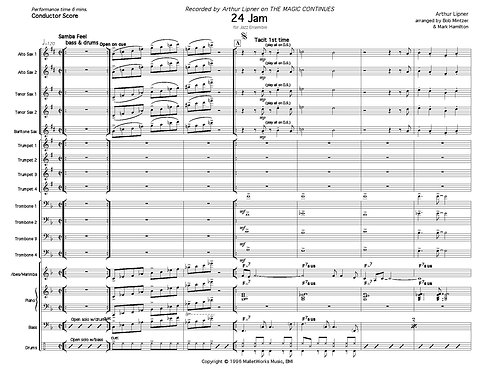 24 Jam for Jazz Ensemble (comp. Lipner, arr. Bob Mintzer, Mark Hamilton)
