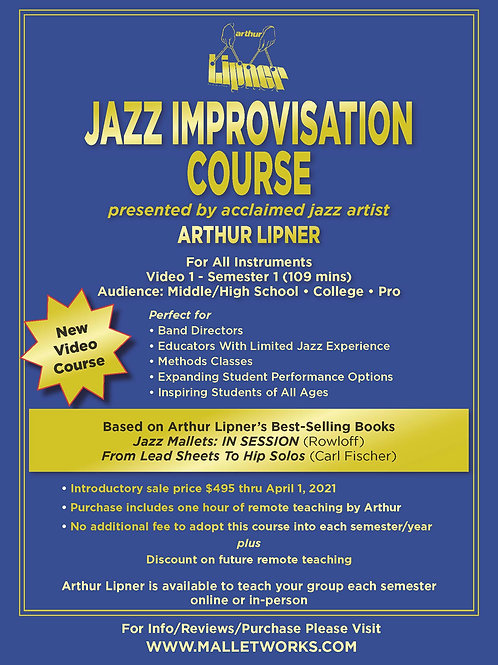 Jazz Improvisation Course (5 videos, 109 mins)