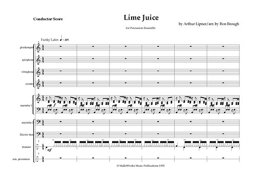 Lime Juice, Perc Ens digital copy (Lipner)