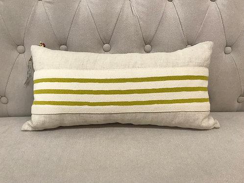 """Erin Flett 10""""x20"""" Striped Lumbar Pillow"""