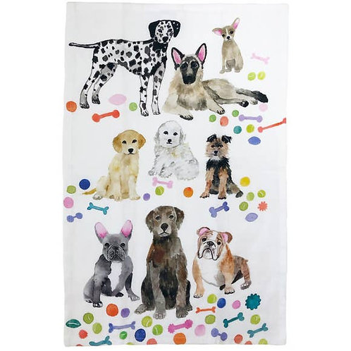 Betsey Olmsted Dogs Tea Towel