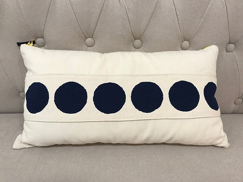 "Erin Flett 10""x20"" Dot Lumbar Pillow"