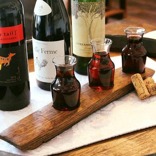 Barrel-Art 3 Glass Wine Carafe Flight