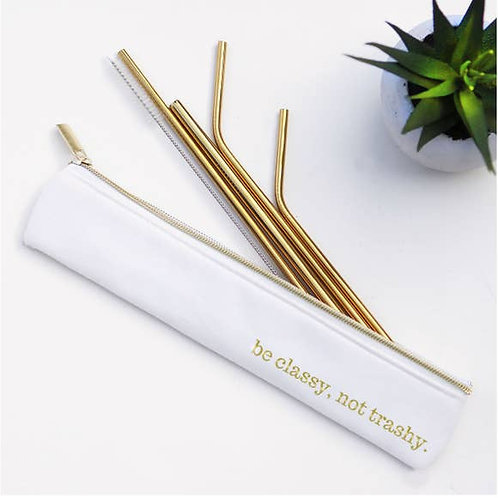 Last Straw Set of 4 Reusable Straws