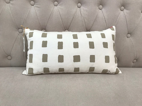 "Erin Flett 10""x20"" Boxes Lumbar Pillow"