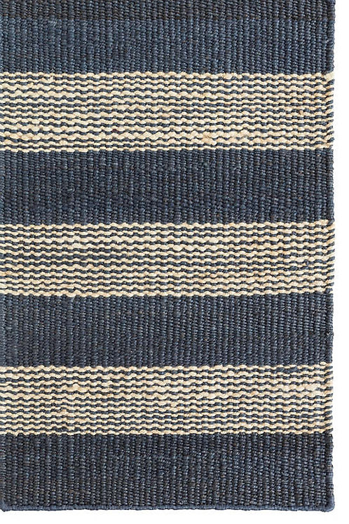 Dash & Albert Denim Ticking Jute Rug
