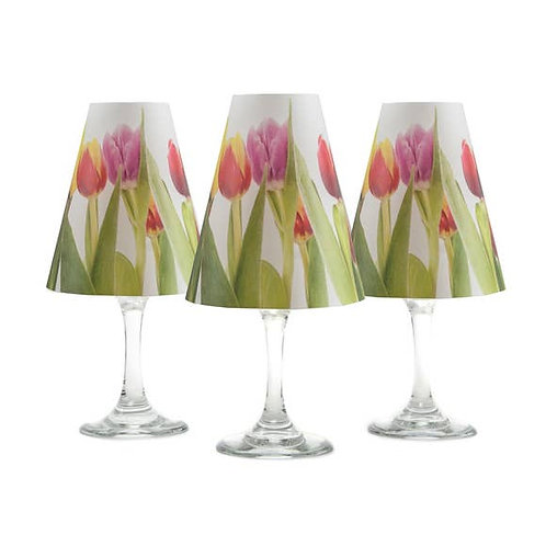 di Potter Floral Tulip Wine Glass Shades