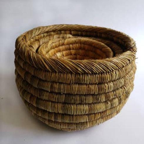 Medina Set of 3 Round Woven Grass Baskets