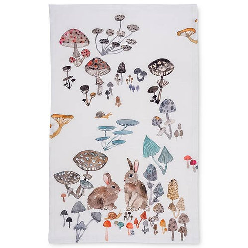 Betsey Olmsted Field Bunnies Tea Towel