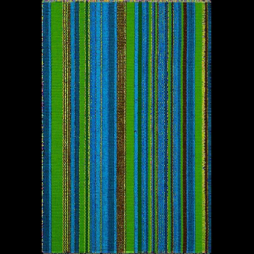 Dash & Albert Fisher Ticking Woven Cotton Rug