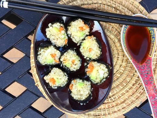Sushi au quinoa bio et équitable