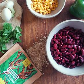 Salade de quinoa, haricots rouges, maïs & poivron