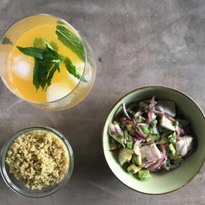 Ceviche de cabillaud & quinoa aux algues