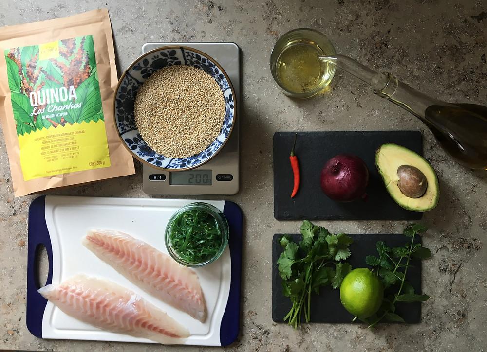 Recette Ceviche Cabillaud Quinoa Bio Équitable