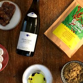Salade de quinoa au chèvre et figues & Bourgogne Aligoté - Domaine Verret - 2016