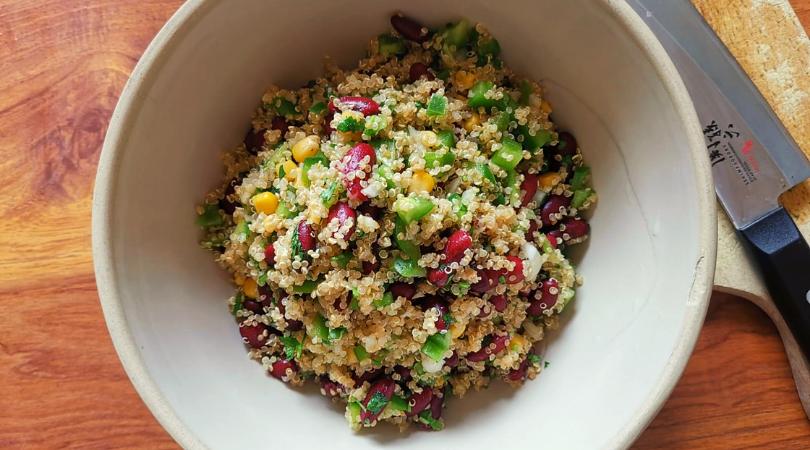 Salade Quinoa bio équitable et Légumes