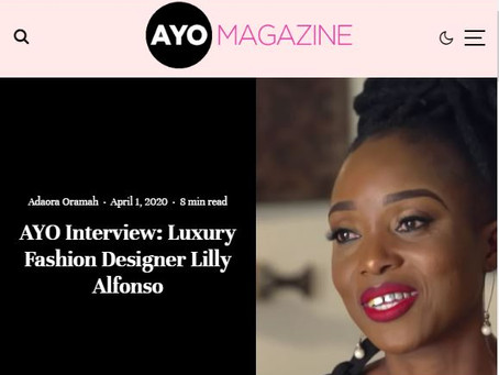 Ayo Interview: Luxury Fashion Designer Lilly Alfonso