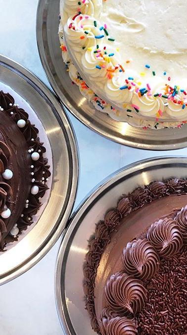 Homemade Vanilla and Chocolate Cake