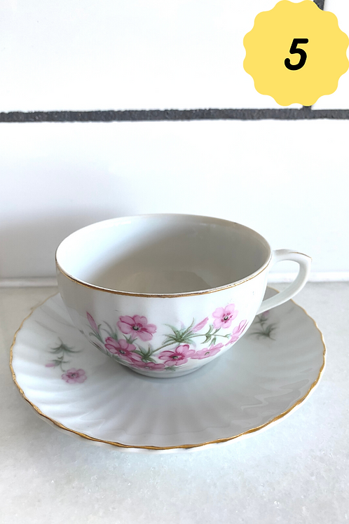 Antique Teacups and Saucers