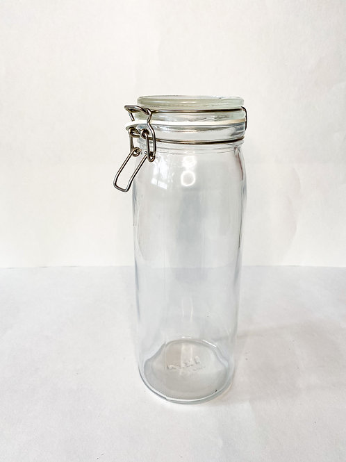 IKEA KORKEN Jar with lid, clear glass2.1 qt