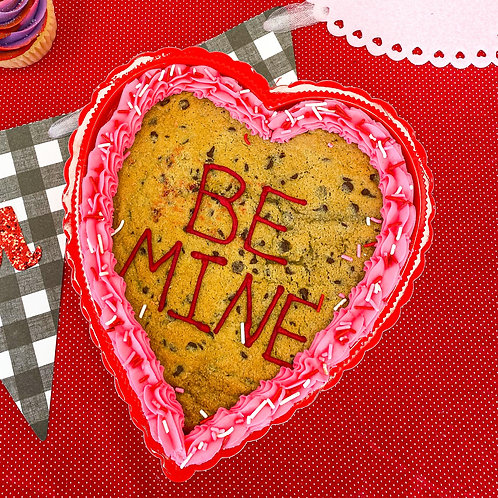 Boxed Heart Shaped Cookie Cake