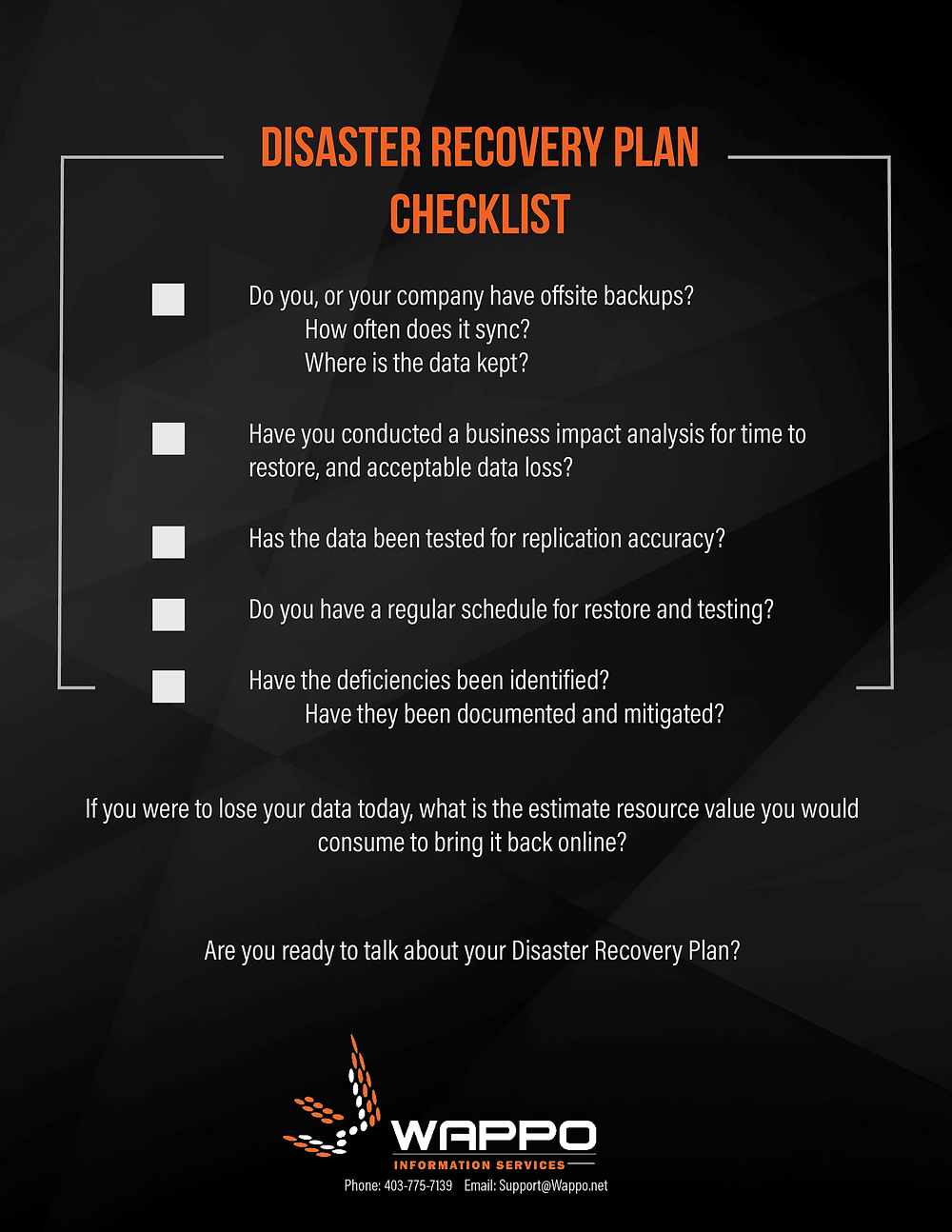 Get the conversation started with our DRP checklist!