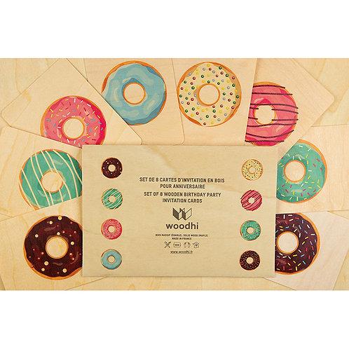 set de 8 cartes anniversaires donuts