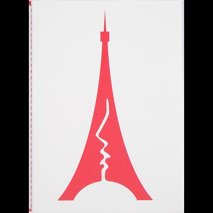 Cahier Tour baiser rouge A6