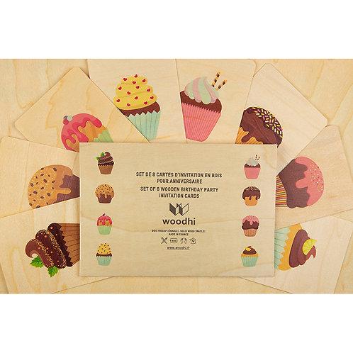 set de 8 cartes anniversaires cupcakes