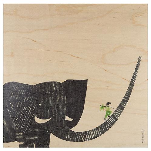 boy on elephant