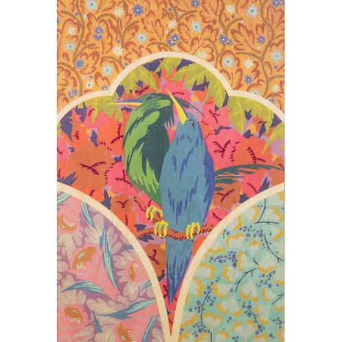 bnf motifs oiseau vert et bleu