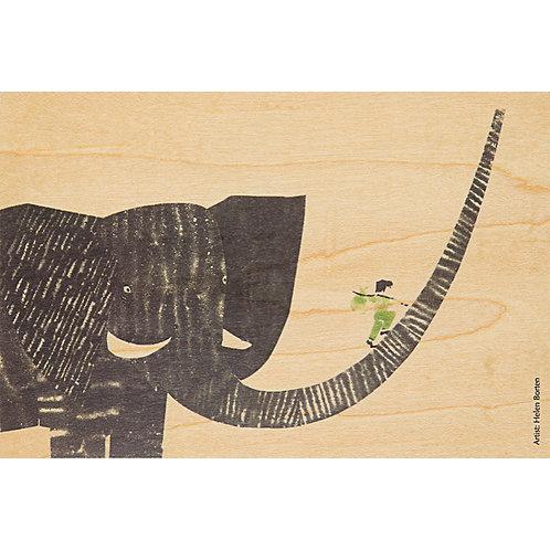 WOODHI - boy on elephant