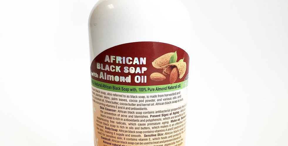 African Black Soap W/Almond Oil