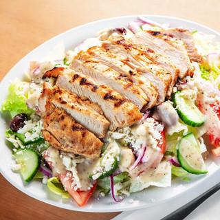 Greek Salad + Grilled Chicken Breast