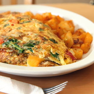 Spinach Cheddar Omelette