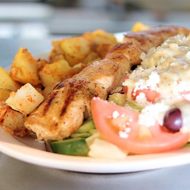 Chicken Greek Souvlaki Dinner