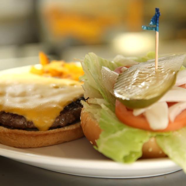 Open Cheese Burger