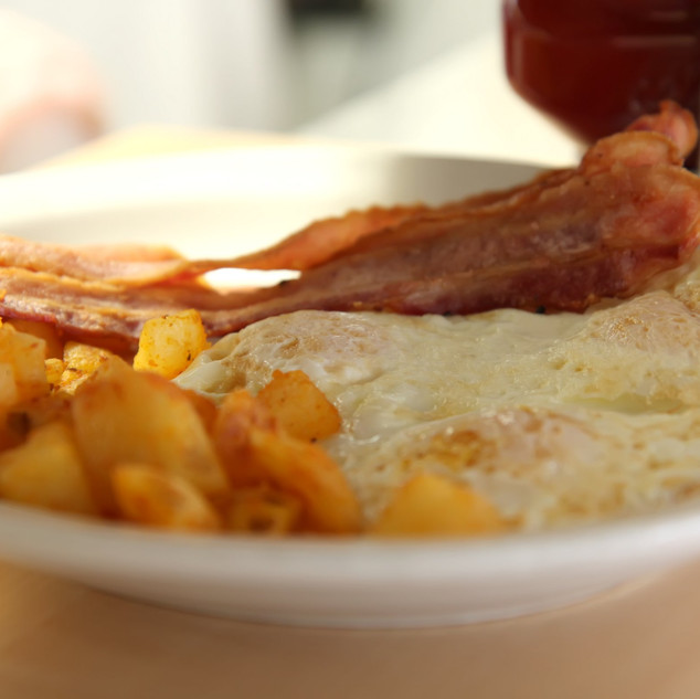 Turkey bacon and eggs