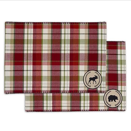 Bear Moose Embellished Placemat