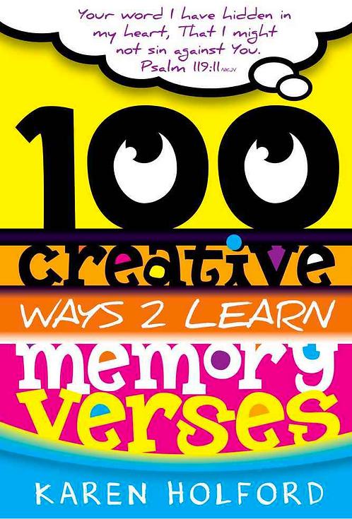 100 Creative Ways to Learn Memory Verses
