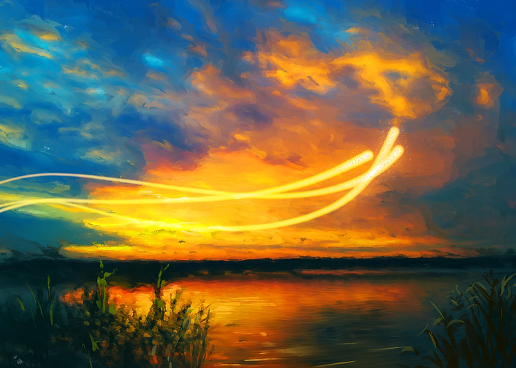 3 Angels Sunset Oil Painting.jpg