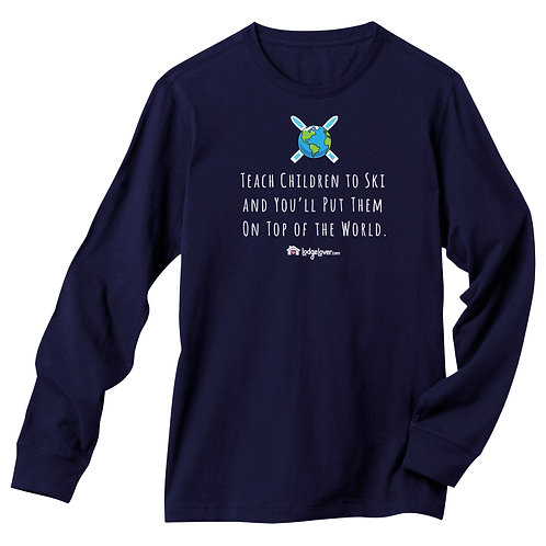 Teach Children Ski - Longsleeved T-shirt