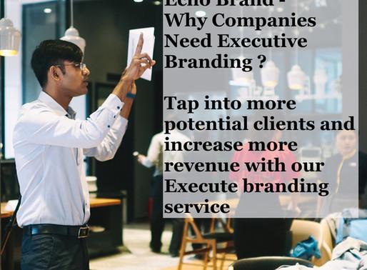 Echo Brand - Why do Companies Need Executive Branding?