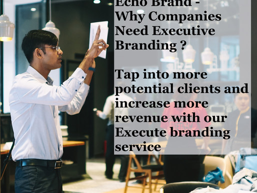 Echo Brand - Why do Companies Need Executive Branding?